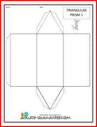 Triangular Prism net, a printable net for a triangular prism