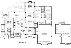 Basement Floor Plan of The Birchwood - House Plan Number 1239