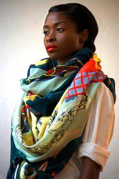 fashion scarves, style, charlott linton, accessori inspir, charlottelintonss115jpg 428590, scarf, wear, fashion inspir, beauti color