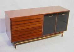 replace the cabinet doors with speaker and make a record playing credenza