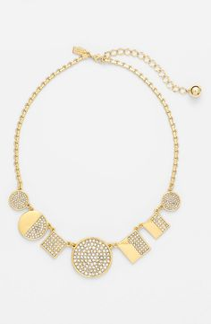 Such a sparkly necklace! This Kate Spade crystal and gold beauty is on the wishlist.