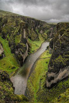 Fjarðárgljúfur canyon, Iceland