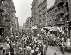 Mulberry St. in Little Italy around 1900