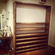 Beautiful adjustable shelves made from reclaimed wood #shelving #organize #home