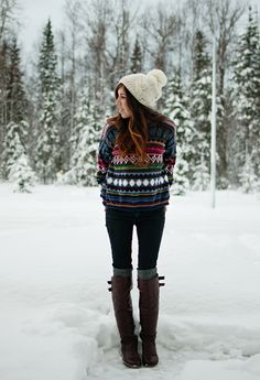 I want this whole outfit, perfect for winter