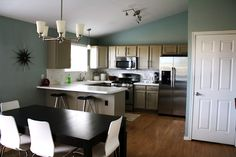 I'd like my kitchen layout to be similar to this.