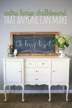 making chalkboards, diy large chalkboard, make chalkboard, larg chalkboard