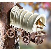 Western Covered Wagon Outdoor Birdhouse | Collections Etc.