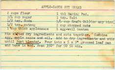 Apple-Sauce Nut Bread