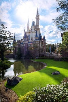 Cinderella Castle, Tokyo Disneyland, Japan  I didn't realize it was Cindy's castle there too!