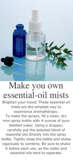 How to make an essential oil spritzer