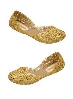 Melissa Shoes Papel Gold