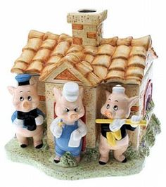 3 little pigs Frm bd: Cookie Jars