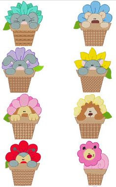 Free Embroidery Designs: Flower Friends - I Sew Free