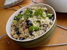 Lemony Couscous with Chickpeas