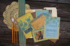 floral & kraft wedding invitation suite by juliaspoppies on Etsy