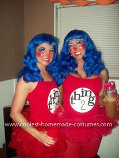 Homemade Thing 1 and Thing 2 Costume: My friend & I wanted to do a duo costume this year. So I researched Homemade Thing 1 and Thing 2 Costume ideas on google images...