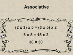 Math Properties you tube demo to the Addams Family tune