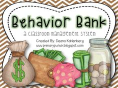 A classroom management system that encourages positive behavior and counting coins!
