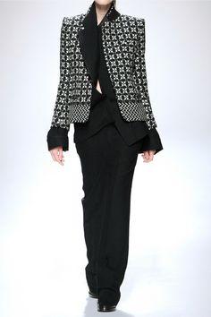 HAIDER ACKERMANN Wool-blend tweed blazer