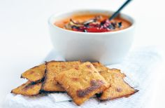 Citrus Spiced Polenta Crackers are begging to be dipped into your favorite tomato or tortilla soup. .