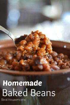 Homemade Baked Beans   Real Housemoms - make without the jalepenos real housemom, yummy side dishes, baked bbq beans, baked northern bean, bbq veggies, homemade bake beans, homemad bake, homemade baked beans recipe, homemade bbq beans