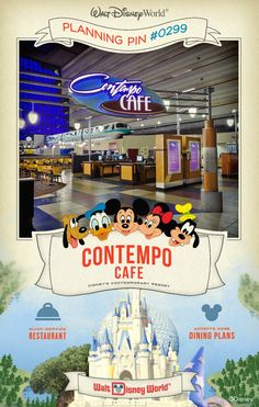 Walt Disney World Planning Pins: Contempo Cafe