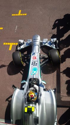 Lewis Hamilton heading out of the pits in Monaco, 2013.