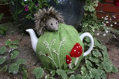 Ravelry: Hedgehog Tea Cosy and Egg Cosy pattern by Lindsay Mudd