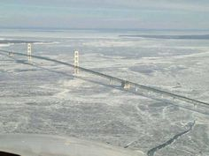 Frozen Straits of Mackinac- Jan 2014