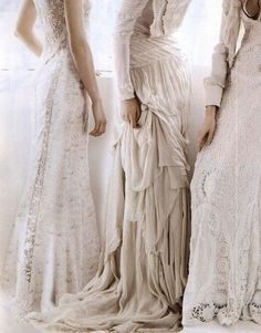 white-lace-evening-gowns by {this is glamorous}, via Flickr
