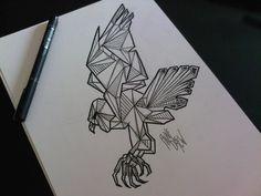 eagle tattoo sketch graphic skull