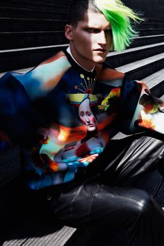 Jakub Nowocien photographed by Michelle Du Xuan and styled by Benjamin Armand for L'Officiel Hommes China.