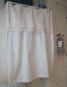 Draps on pinterest sac a main bow pillows and linen pillows - Faire des rideaux avec draps anciens ...