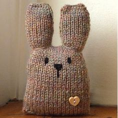 This cute bunny is pig enough to be a throw pillow!  Use him as a fun gift for little ones or to dress up the house for Easter.