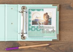Family Album Cricut image set -- Happiness scrapbook page layout. Make It Now in Cricut Design Space