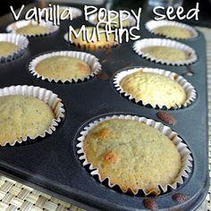 Vanilla Poppy Seed Muffins