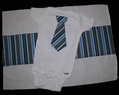 Tie and Burp Cloth Design