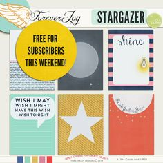 Free Stargazer Journal Cards from ForeverJoy Designs {newsletter subscription required}