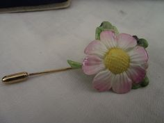 vintage coalport bone china flower pin