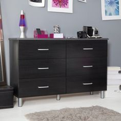 South Shore Furniture, Cosmos Collection, Double Dresser, Black Onyx and Charcoal - Listing price: $299.99 Now: $206.09