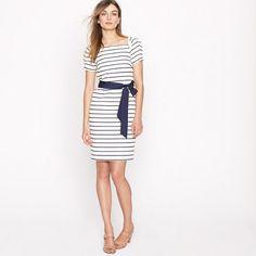 Puffection dress in stripe
