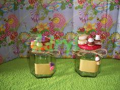 Frascos de vidrio decorados con porcelana fria - Imagui
