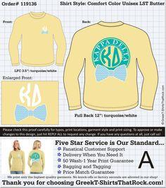 Kappa Delta Bow Tie Long Sleeve Monogram Shirt!