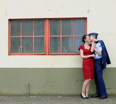 vintage air force. cute shoot