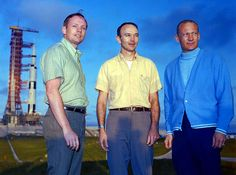 "Apollo 11 crew ~ Neil Armstrong, Commander; Michael Collins, Command Module Pilot and Edwin ""Buzz"" Aldren Jr., Lunar Module Pilot (May 1, 1969)"