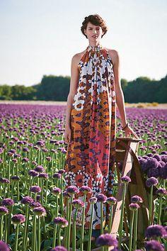 Lorna Silk Maxi Dress - anthropologie.com
