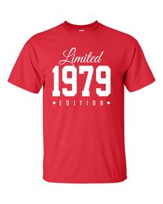 1979 Limited Edition 35th Birthday Party Shirt by TeeHeeHeeShirt, $17.50