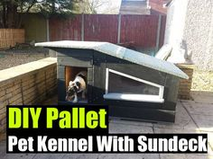 DIY Pallet Pet Kennel With Sundeck - SHTF Preparedness