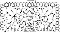 Схема вязания мотива для покрывала